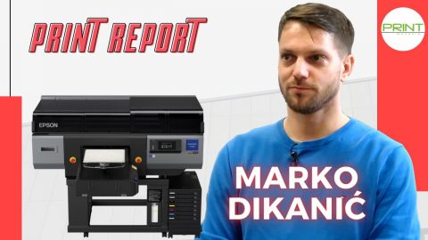 Print Report: Epson SC-F3000 visoko produktivni DTG