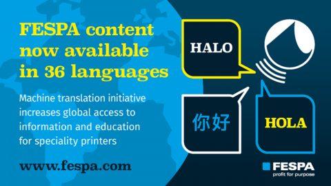 Sadržaj na FESPA.com stranici sada je dostupan na 36 jezika