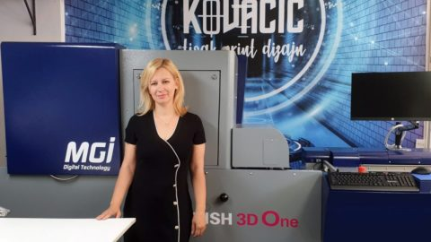 MGI JETvarnish 3D One for an innovative products of Croatian printing house Kovacic