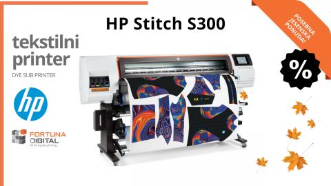 Razmišljate o investiciji u tekstilni pisač? HP Stitch S300 nikada nije bio povoljniji!
